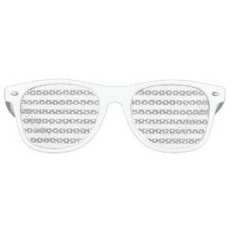 Elegant Faux Silver Glitter Stripe Pattern Retro Sunglasses