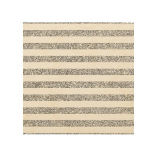 Elegant Faux Silver Glitter Stripe Pattern Wood Print