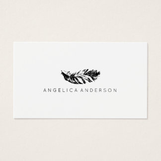 Elegant Feather Business Card