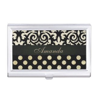 Black Feminine Business Card Holders Cases Zazzle Com Au