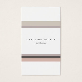 Elegant feminine minimalist modern white pink line business card