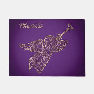 Elegant filigree angel doormat