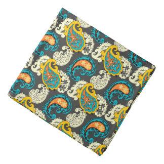 Elegant Filigree Paisley Swirls Pattern Bandana
