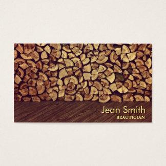 Elegant Firewood Beautician Business Card