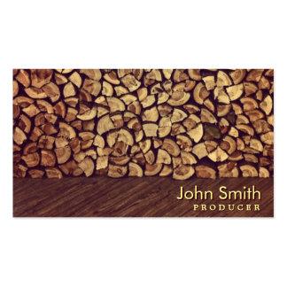 Elegant Firewood Producer Business Card