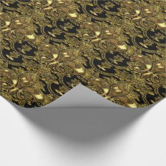 Elegant Fleur Baroque Elegant Wrapping Paper