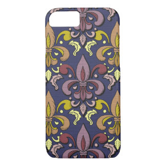 elegant fleur de lis damask iPhone 7 case