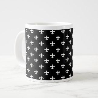 Elegant Fleur de lis Jumbo Mug