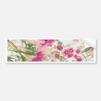Elegant Floral Art Bumper Stickers