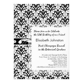 Elegant Floral Art Deco Damask 1930s Pattern Invite
