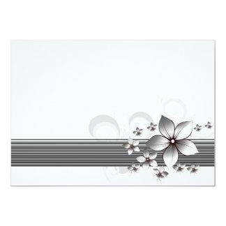 Elegant floral border invitations in black
