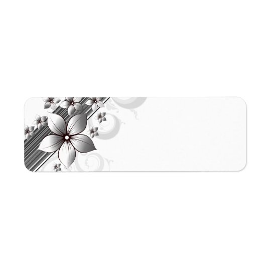 Elegant floral border labels in black
