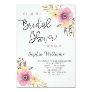 Elegant Floral Bridal Shower Card