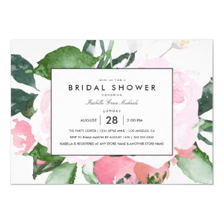 Elegant Floral | Bridal Shower Invitation