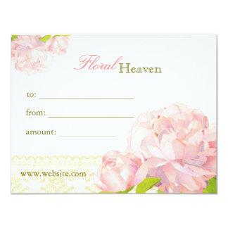 Elegant Floral Business Gift Certificates 11 Cm X 14 Cm Invitation Card