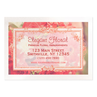 Elegant Floral Chubby Business Card