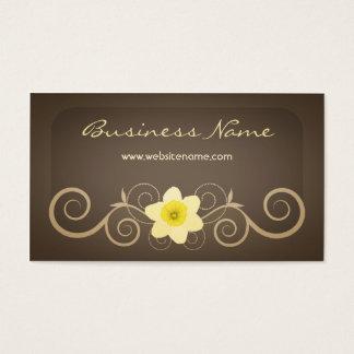 Elegant Floral Decor Business Card