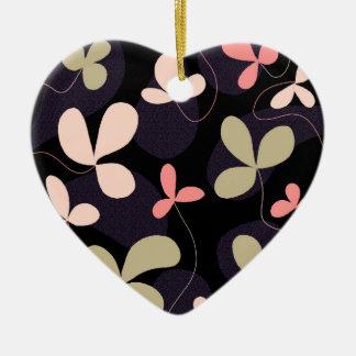 Elegant floral design ceramic heart decoration