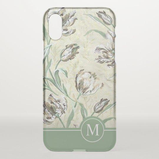 Elegant Floral Design Monogram | iPhone X Case