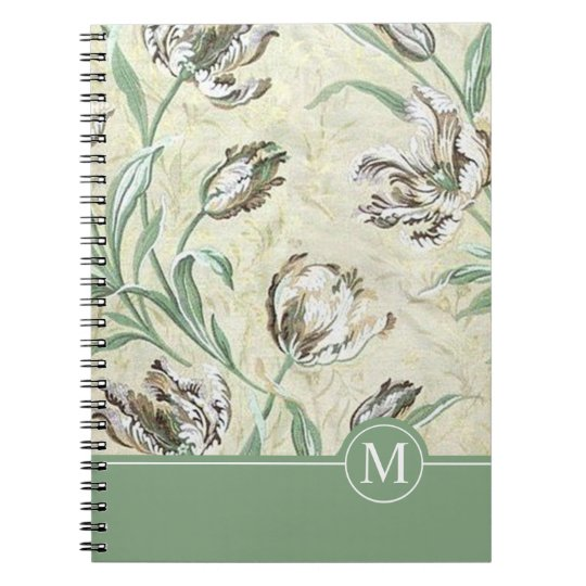 Elegant Floral Design Monogram | Notebook