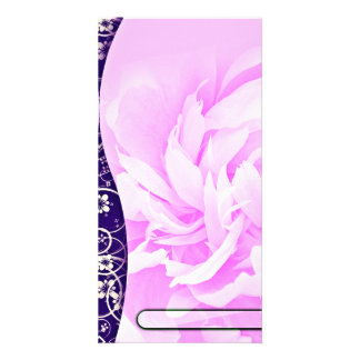 Elegant Floral design on navy blue and creative ar Photo Cards