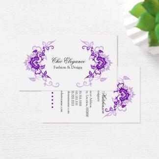 Elegant Floral Flourish Business Card