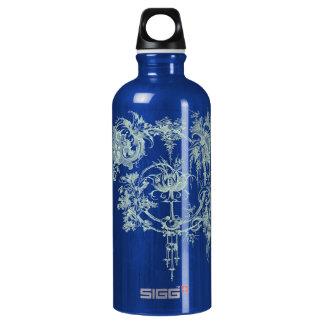 Elegant Floral, Green and Aqua Water Bottle