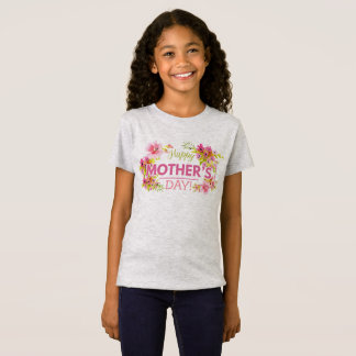 Elegant Floral Happy Mother's Day | Jersey Shirt