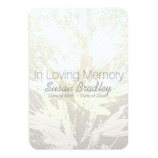 Elegant Floral In Loving Memory Memorial Service 9 Cm X 13 Cm Invitation Card