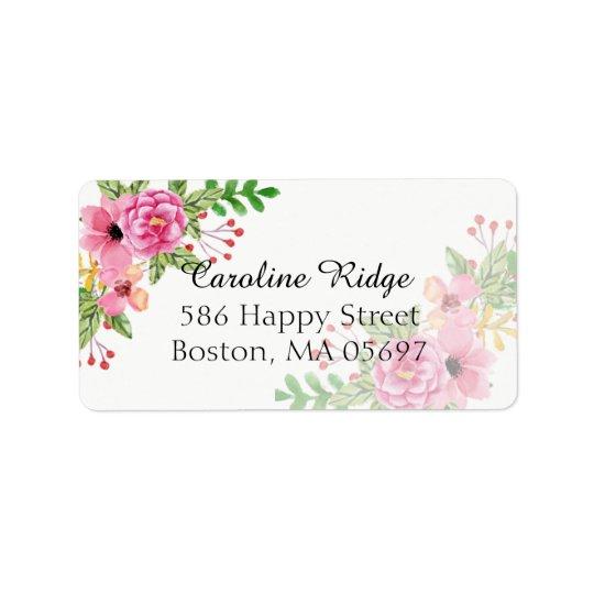 Elegant Floral Label