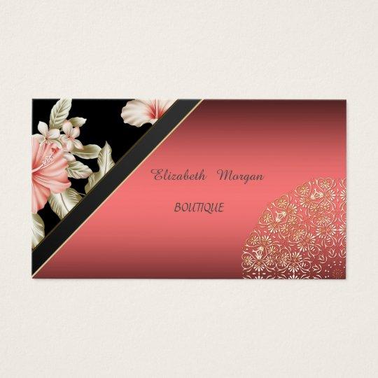 Elegant Floral, Lace, Business Card