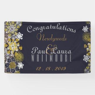 Elegant Floral Lace Party Wedding Banner