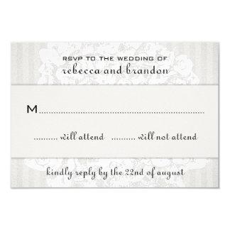 Elegant Floral Lace Wedding RSVP Cards 9 Cm X 13 Cm Invitation Card