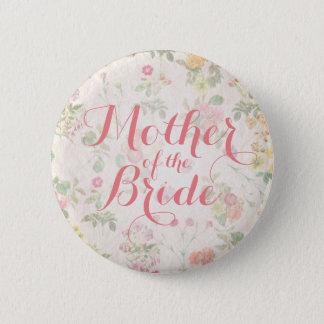 Elegant Floral Mother of Bride Wedding Pin