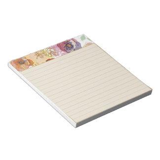 Elegant floral notepads