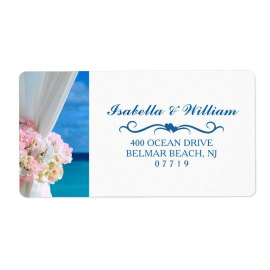 Elegant Floral Ocean Beach Summer Wedding