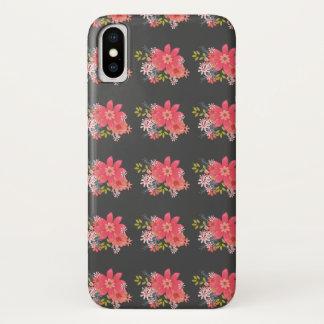 Elegant Floral Pattern / Gray iPhone X Case