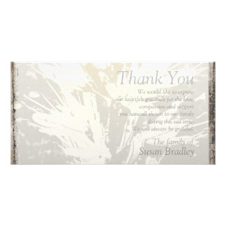 Elegant Floral Pattern Sympathy Thank you P card Picture Card