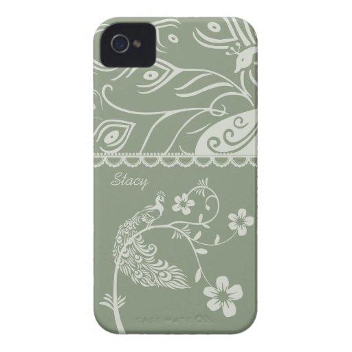 Elegant Floral Peacock Blackberry Bold 9700/9780 Case-Mate Blackberry Case