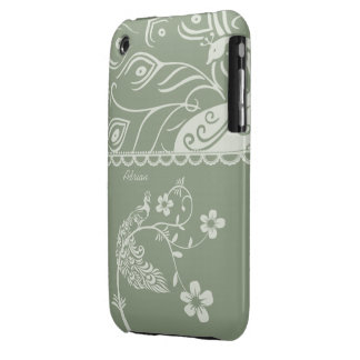 Elegant Floral Peacock iPhone 3G/3GS Cover iPhone 3 Cases