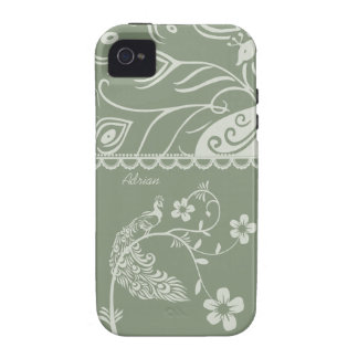 Elegant Floral Peacock iPhone 4 Cellphone Cover iPhone 4 Case