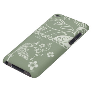 Elegant Floral Peacock iPod Touch Cover