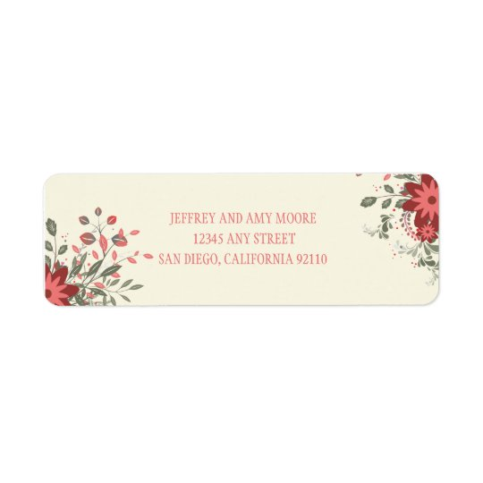 Elegant Floral Return Address Label