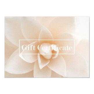 Elegant Floral Salon Spa Yoga Gift Certificate 11 Cm X 16 Cm Invitation Card