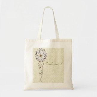 Elegant Floral Save the Date Design Budget Tote Bag