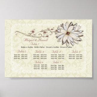 Elegant Floral Seating Charts Poster