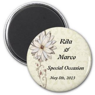Elegant Floral Special Occasion Design Magnet