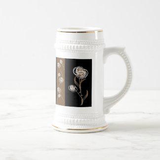 Elegant Floral Stein Beer Steins