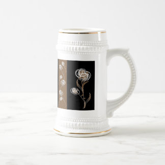 Elegant Floral Stein Mug