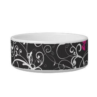 Elegant Floral Swirls Bowl